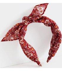 lenora metallic fleck bow headband - burgundy