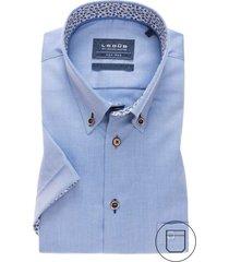 ledub korte mouwen hemd modern fit blauw