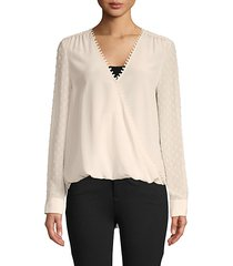 perry wrap blouse