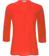 blusa unicolor color naranja, talla m