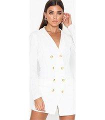 ax paris long sleeve blazer dress skater dresses white