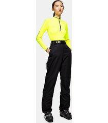 *black straight leg ski pants by topshop sno - black
