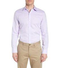 men's bonobos slim fit textured dress shirt, size 15.5 - purple