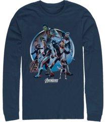 marvel men's avengers endgame suit group, long sleeve t-shirt