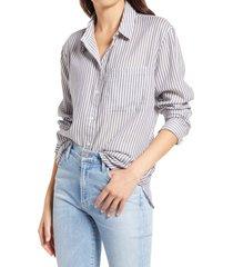women's treasure & bond women's lightweight patterned shirt