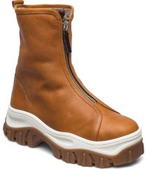 mio shoes boots ankle boots ankle boot - flat brun nude of scandinavia