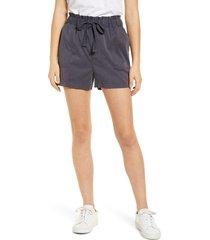 women's caslon tie waist shorts, size x-large - grey