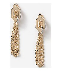 *link chain front back earrings - clear