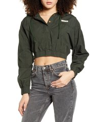 women's bdg urban outfitters crop poplin jacket, size medium - green
