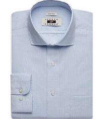 joseph abboud blue gingham dress shirt