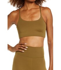 girlfriend collective juliet sports bra, size x-large in fern at nordstrom