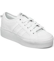 nizza platform w sneakers skor silver adidas originals