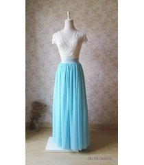 aqua maxi skirt outfit wedding bridesmaid maxi tulle skirt plus size maxi skirt