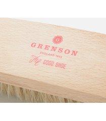 grenson large beachwood horsehair brush - beige