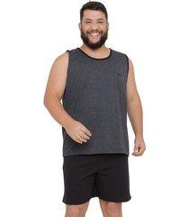 pijama regata masculino plus size com algodão luna cuore