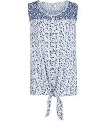 camicetta in cotone con fiocco (blu) - bpc bonprix collection