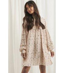 na-kd boho structured printed dress - multicolor
