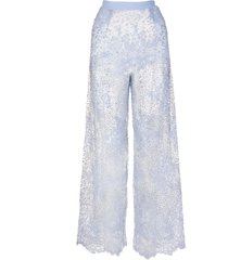 palazzo pants in lace and crystals
