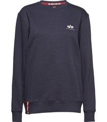 basic sweater small logo sweat-shirt tröja blå alpha industries
