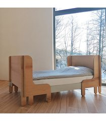 woo bed rama wysoka łóżko ze sklejki rozsuwane