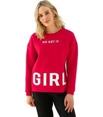 sweatshirt amy vermont rood::wit