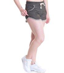 short feminino moletinho fio lurex 50601 cinza