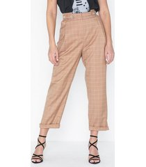 topshop windowpane check mensy trousers byxor