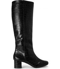 amaro feminino bota cano longo salto alto, preto
