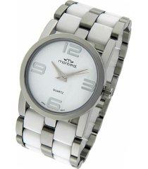 reloj blanco montreal silver