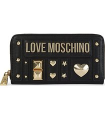 embellished zip-around long wallet