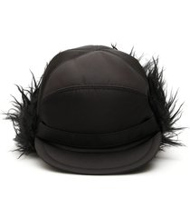 prada aviator hat with mohair inserts
