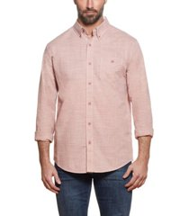 men's solid cotton end-on-end long sleeve shirt