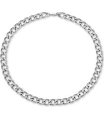 """inc men's stainless steel curb link 24"""" chain necklace, created for macy's"""