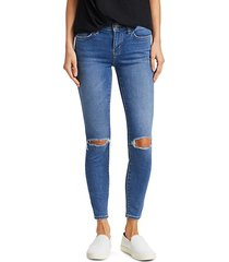 the stiletto distressed ankle jeans