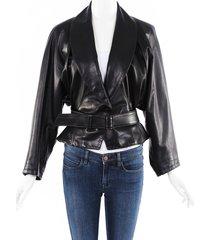 alaia vintage leather jacket