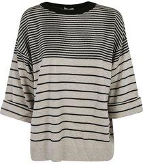 brunello cucinelli oversized stripe sweater