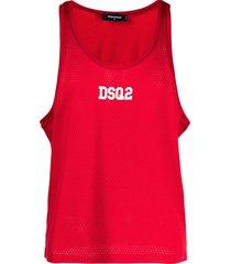 dsquared2 logo-print muscle vest