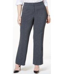 jm collection plus & petite plus size curvy-fit straight-leg pants, created for macy's