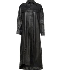 nuka thin leather dress knälång klänning svart mdk / munderingskompagniet