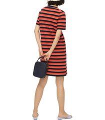 women's j.crew stripe short sleeve re-imagined wool sweater dress