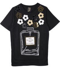 t-shirt black roses