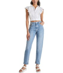 french connection duna broderie lawn cropped top