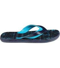 sandalia flip flop estampada para hombre 04384
