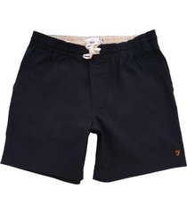 farah the val stretch twill shorts navy f4hm8014-412