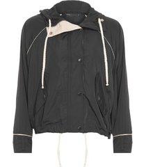 jaqueta esportiva com capuz lebôh - preto