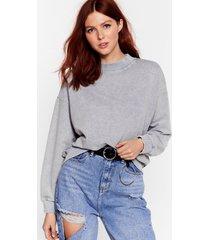 womens oh my wash relaxed sweatshirt - grey