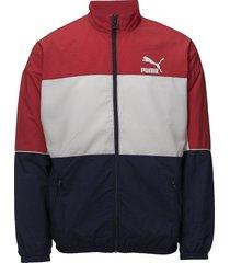 retro woven track jacket sweat-shirt tröja röd puma
