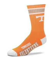 for bare feet tennessee volunteers youth 4 stripe deuce crew socks