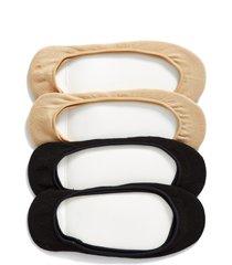 women's hue 4-pack liner socks, size medium/large - black