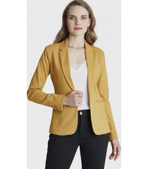 blazer manga larga amarillo lorenzo di pontti